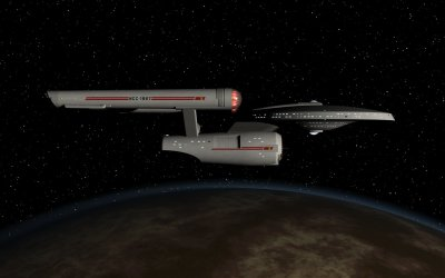 USS Paul Dirac in orbit